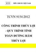 TCVN 9154:2012 Công trình thủy lợi - quy trình tính toán đường hầm thủy lợi