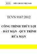 TCVN 9167:2012 Công trình thủy lợi - đất mặn - quy trình rửa mặn