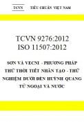 TCVN 9277:2012 Sơn phủ bảo vệ kết cấu thép - hướng dẫn kiểm tra, giám sát chất lượng quá trình thi công