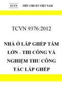 TCVN 9376:2012 Nhà ở lắp ghép tấm lớn - thi công và nghiệm thu công tác lắp ghép