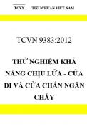 TCVN 9383:2012 Thử nghiệm khả năng chịu lửa - cửa đi và cửa chắn ngăn cháy