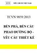 TCVN 9859:2013 Bến phà, bến cầu phao đường bộ - yêu cầu thiết kế
