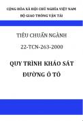 Tiêu chuẩn ngành 22TCN 263-2000 Quy trình khảo sát đường ô tô