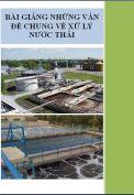 Bài giảng những vấn đề chung về xử lý nước thải
