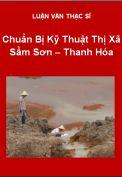 Luận văn Chuẩn bị kỹ thuật Thị Xã Sầm Sơn - Thanh Hóa