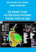 Quy hoạch nông thôn mới xã Đồng Tháp – Huyện Đan Phượng  – thành phố Hà Nội