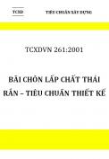 TCXDVN 261:2001 Bãi chôn lấp chất thải rắn – Tiêu chuẩn thiết kế