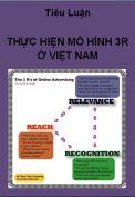 Thực hiện mô hình 3R ở Việt Nam