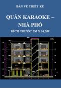 Bản vẽ thiết kế Quán karaoke – Nhà ở với kích thước 5m x 16,3m