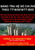 Bảng tra hệ số chi phí QLDA và tư vấn đầu tư theo TT16/2019/TT-BXD ngày 26/12/2019