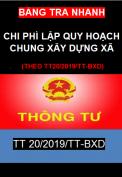 Bảng tra nhanh chi phí lập quy hoạch chung xây dựng xã  theo TT20/2019/TT-BXD