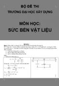 Bộ đề thi + đáp án môn học: sức bền vật liệu - Trường đại học Xây dựng