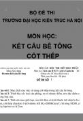 Bộ đề thi môn học: kết cấu bê tông - Trường đại học Kiến trúc Hà Nội
