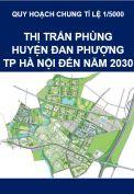 Quy hoạch chung tỷ lệ 1/5000 Thị trấn Phùng, huyện Đan Phượng, TP Hà Nội đến năm 2030