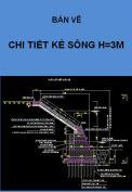 Chi tiết cấu tạo kè hồ H=3m.