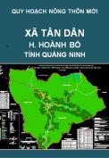 Quy hoạch xây dựng nông thôn mới xã Tân Dân  – huyện Hoành Bồ – tỉnh Quảng Ninh