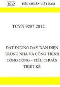 TCVN 9207:2012- Đặt đường dây dẫn điện trong nhà và công trình công cộng