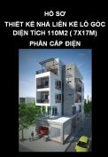 Hồ sơ thiết kế nhà liên kế lô góc diện tích 110m2 (7x17m) - Phần 3: Cấp điện