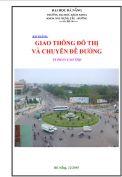 Bài giảng Giao thông đô thị và chuyên đề đường – TS Phan Cao Thọ