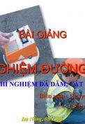 Bài giảng Thí nghiệm đường ô tô - Nguyễn Biên Cương
