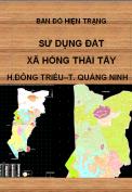 Bản đồ hiện trạng sử dụng đất xã Hồng Thái Tây – H. Đông Triều – T.Quảng Ninh