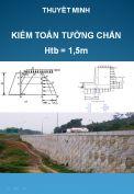 File Excel Kiểm toán thiết kế tường chắn chiều cao Htb =1,5m