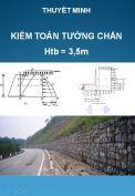 Kiểm toán thiết kế tường chắn chiều cao Htb =3,5m