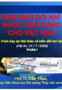Phần I: Kịch bản biến đổi khí hậu, nước biển dâng cho Việt Nam