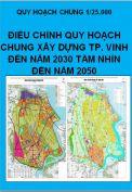 Điều chỉnh Quy hoạch chung thành phố Vinh đến năm 2030 tầm nhìn đến năm 2050  tỷ lệ 1/25.000