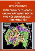 Điều chỉnh quy hoạch chung xây dựng khu đô thị Phố Nối đến năm 2025- tỉnh Hưng Yên