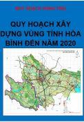 Quy hoạch chung xây dựng vùng tỉnh Hòa Bình đến năm 2020