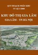 Quy hoạch khu chức năng đô thị phía tây nam huyện Gia Lâm tỷ lệ 1/2000