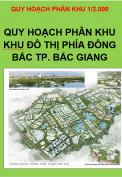 Quy hoạch phân khu Khu đô thị phía Đông Bắc Thành phố Bắc Giang, tỷ lệ 1/2.000 (Đường Vành đai phía Đông Bắc Thành phố Bắc Giang, đoạn Từ QL1 đến Sông Thương)
