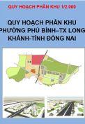 Quy hoạch phân khu Phường Phú Bình, thị xã Long Khánh, tỉnh Đồng Nai, tỷ lệ 1/2.000