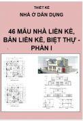 Thiết kế nhà liền kề, nhà bán liền kề, nhà biệt thự - Phần I