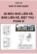 Thiết kế nhà liền kề, nhà bán liền kề, nhà biệt thự - Phần III
