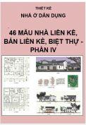 Thiết kế nhà liền kề, nhà bán liền kề, nhà biệt thự - Phần IV
