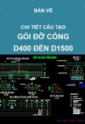 Chi tiết gối cống tròn kích thước từ D400 đến D1500