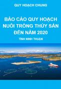 Báo cáo quy hoạch nuôi trồng thủy sản đến năm 2020, tỉnh Ninh Thuận