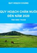 Báo cáo quy hoạch phát triển chăn nuôi đến năm 2020, tỉnh Ninh Thuận