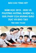 Báo cáo tổng kết năm học 2015 - 2020 và phương hướng, nhiệm vụ, giải pháp của ngành giáo dục và đào tạo, tỉnh Ninh Thuận