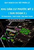 Quy hoạch chi tiết phân lô Khu dân cư Phước Mỹ 2 ( giai đoạn 2 ) - thành phố Phan Rang - Tháp Chàm - tỉnh Ninh Thuận