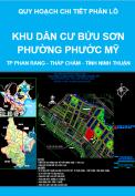 Quy hoạch chi tiết xây dựng tỷ lệ 1/500 Khu dân cư Bửu Sơn phường Phước Mỹ - thành phố Phan Rang - Tháp Chàm - tỉnh Ninh Thuận