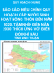 Báo cáo điều chỉnh quy hoạch cấp nước sinh hoạt nông thôn đến năm 2020, tầm nhìn đến năm 2030 thích ứng với biến đổi khí hậu - Quy hoạch chung tỉnh Ninh Thuận