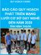 Báo cáo quy hoạch phát triển mạng lưới dạy nghề đến năm 2020 - Quy hoạch chung tỉnh Ninh Thuận