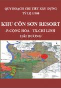 Điều chỉnh quy hoạch chi tiết xây dựng  tỷ lệ 1/500 - Khu Côn Sơn Resort