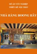 Đồ án tốt nghiệp thiết kế nội thất – Nhà hàng Boong Hây