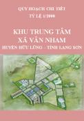Quy hoạch chi tiết 1/2000 Khu trung tâm xã Vân Nham