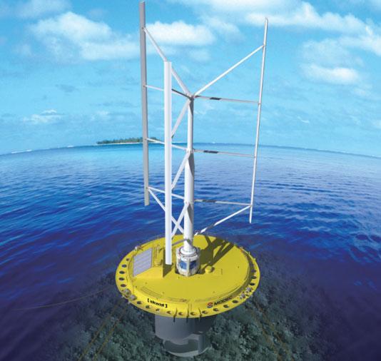 SKWID - hệ thống tua-bin khai thác đồng thời năng lượng gió và hải lưu của Nhật