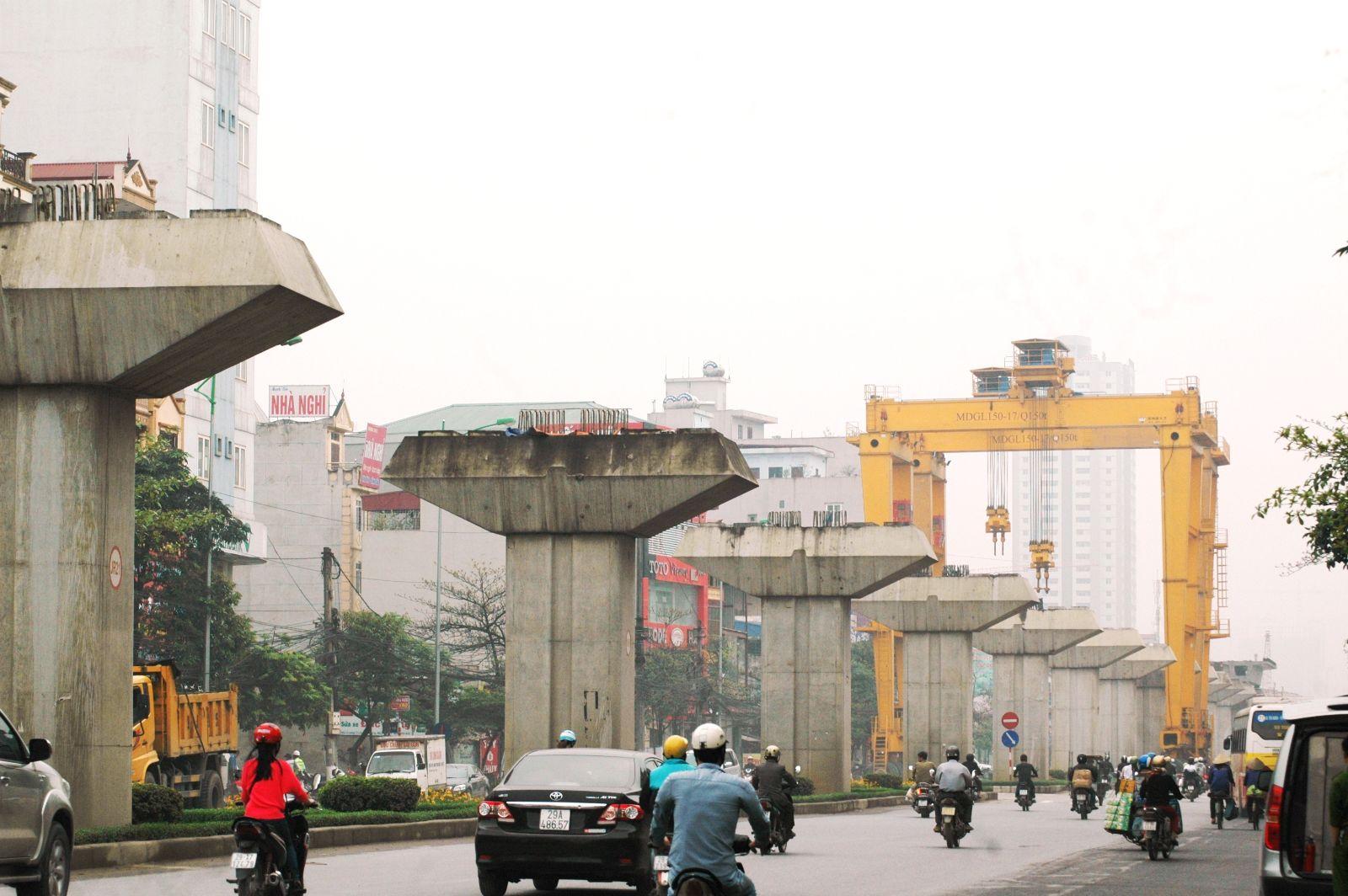 Những hình ảnh đầu tiên lao dầm đường sắt đô thị Hà Đông - Cát Linh 2